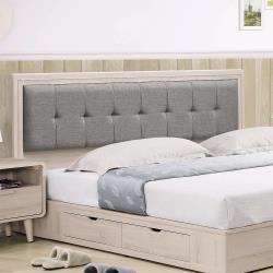 HD 艾美6尺洗白橡色床頭片