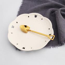 不鏽鋼304鈦金蛋糕咖啡鏟匙(5支入) GM1008GD