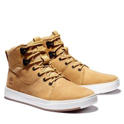Timberland 男款小麥黃磨砂革高筒休閒鞋A2G8N231