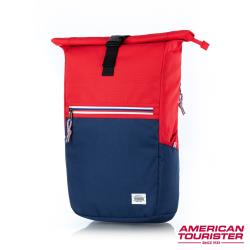 AT美國旅行者 Trent上捲式開口拉鍊筆電後背包15.6(紅藍)-GS9*80001