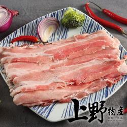 (烤肉任選899出貨)【上野物產】烤肉用 台灣豬五花厚切烤肉片(200g土10%/盒) x1盒