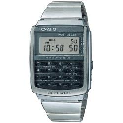 CASIO卡西歐 潮流復古計算機個性電子錶-銀(CA-506-1D)