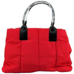 【CLARINS 克蘭詩】法式紅蕾輕羽絨手提包/肩背包