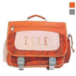 【ELLE Petite】輕量熱帶雨林系列書包/後背書包/背包/橫式書包(橘色/灰色)