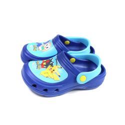 精靈寶可夢 Pokemon 花園鞋 涼鞋 藍色 中童 童鞋 PA1755 no860