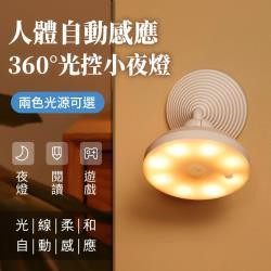 【A-MORE】人體自動感應360°紅外線光控小夜燈
