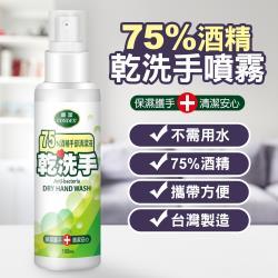 台灣製造75%酒精乾洗手噴霧隨身噴瓶100ml