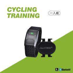 ALATECH藍牙心率帶 自行車雙頻無磁速度踏頻器OB001+SC003