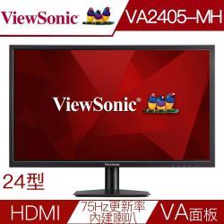 Viewsonic優派 VA2405-mh 24型VA面板104%sRGB液晶螢幕