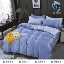 韋恩寢具 天絲鋅離子吸濕排汗兩用被床包組 加大
