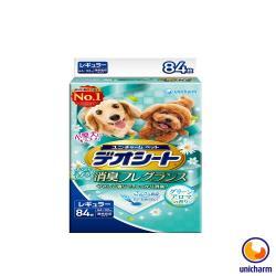 日本 Unicharm嬌聯 消臭大師 小型犬狗尿墊-森林香-M 84片(44*32cm) X 1包