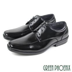 GREEN PHOENIX 線條剪裁方型楦綁帶紳士皮鞋(男鞋)T59-10835