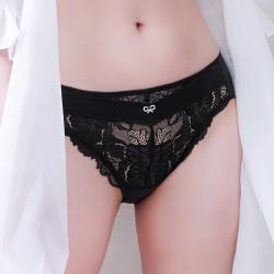 【UZ EASY SHOP】晨曦漫舞 中腰三角褲(誘惑黑)