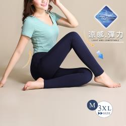 【GF 快時尚】升級版完美比例涼感彈力顯瘦褲-深藍(M-3XL)