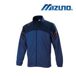 Mizuno 美津濃 男針織運動外套 麻花藍x深丈青 32TC053481