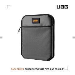 UAG iPad Pro 12.9吋(2020)耐衝擊保護套Lite-灰