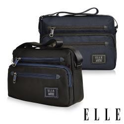 【ELLE】大容量多隔層機能休閒斜背包-二色任選(EL83493)