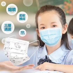 兒童加厚熔噴布三層防護口罩