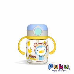 PUKU藍色企鵝 Tritan彩虹糖水杯220ml _黃小猴