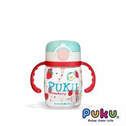 PUKU藍色企鵝 Tritan彩虹糖水杯220ml _紅草莓