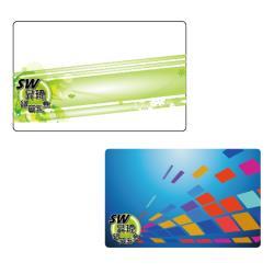 LY002印刷IC卡 方塊 綠帶 圖案 (雙面印) Mifare感應卡MF1卡 復旦卡 門禁卡考勤卡三星加安東隆電子鎖