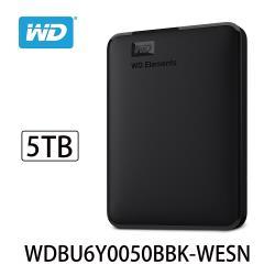 WD威騰 Elements 5TB 2.5吋行動硬碟 WDBU6Y0050BBK-WESN
