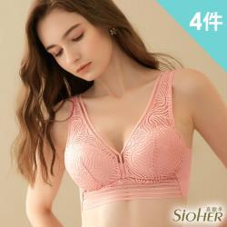 【SiOHER 熹歐禾】韓國熱銷新型裸肌感美胸衣(超值4件組-隨機)