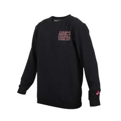 ASICS 男TOKYO長袖圓領T恤-刷毛 保暖 上衣 大學T 亞瑟士