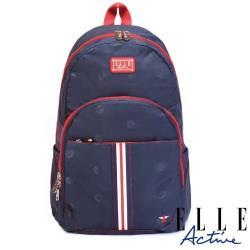 【ELLE Active】經典復刻系列-後背包-大-藍色