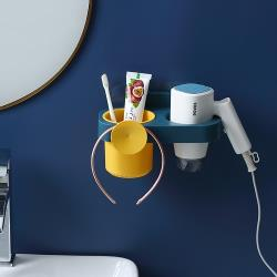 圓點收納吹風機架 免打孔浴室置物架 吹風機 收納架 支架 置物架