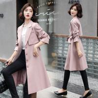 SZ-流行新風尚翻領廓型長款風衣外套S-XL(共三色)
