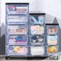 IDEA  日式簡約透明五層抽屜收納櫃(置物櫃)