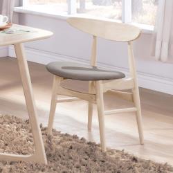 HD 吉伯特原木洗白灰布餐椅
