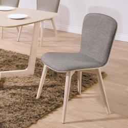 HD 喬克原木橡木灰布餐椅