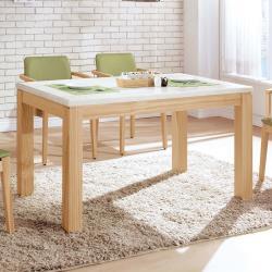 H&D喬伊原木色5尺石面餐桌