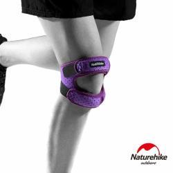 Naturehike 雙重防護加壓減震髕骨帶 運動護套 單只入 女款 紫色
