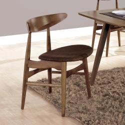H&D 吉伯特淺胡桃咖啡布餐椅