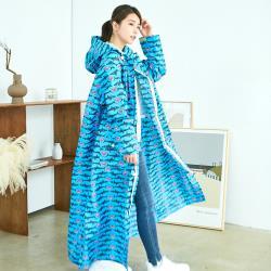 RAINSTORY雨衣-龐克鯊魚連身雨衣(L號)