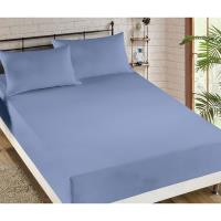 HANASAKI純色訂製全防護精緻保潔床包3入-加大