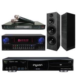 音圓 S-2001 N2-350 專業型卡拉OK點歌機 4TB+KARMEN X8 擴大機+LAND LM-750 無線麥克風+A-1090 主喇叭