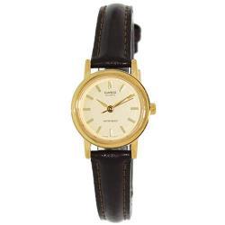 【CASIO】時尚簡約皮質指針女錶-羅馬金面(LTP-1095Q-9A)