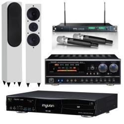 音圓 S-2001 N2-350 卡拉OK點歌機 4TB+BB-1 BT 擴大機+ACT-869 PRO 無線麥克風+AL-520 主喇叭(白)