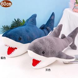 鯊魚絨毛娃娃玩偶抱枕靠枕60公分 45-00257【卡通小物】