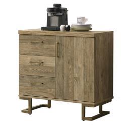 【AT HOME】美式工業2.7尺鐵藝餐櫃/碗盤櫃/收納櫃(希爾頓)