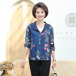 【艾洛妃】中國風情花草彩繪雙面穿時尚休閒外套(4色任選)