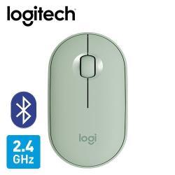 【Logitech 羅技】M350 鵝卵石無線滑鼠-薄荷綠 【贈純水柔濕巾】