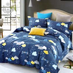 AGAPE亞加‧貝 MIT台灣製-夢境朵朵 舒柔棉單人3.5x6.2尺兩件式薄床包組(百貨專櫃精品)