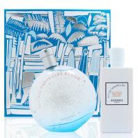 HERMES愛馬仕 橘采星光藍色限定版淡香水禮盒 (100ML香水+80ML身體乳)