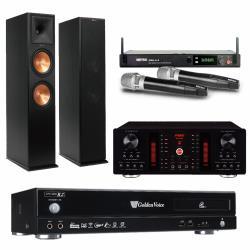 金嗓 CPX-900 R2電腦伴唱機 4TB+A-450 擴大機+PRO-2.4 無線麥克風+RP-280F 主喇叭