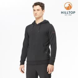 【hilltop山頂鳥】男款POLYGIENE抗菌連帽刷毛上衣H51MJ7黑美人